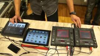 DJ iMo messing up with 2 iPads and 2 Kaosspads