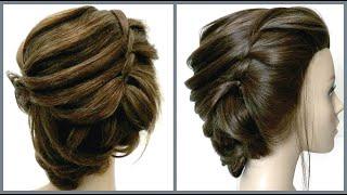 Легкая прическа для коротких волос.Красивые прически.Easy hairstyle for short hair.Hairstyles