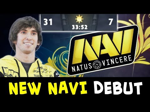 New NaVi first game — Dendi mid Zeus total stomp