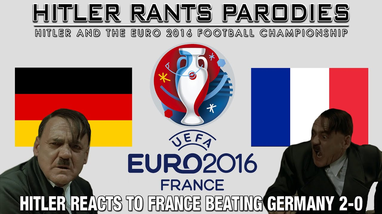 Hitler reacts to France beating Germany 2-0