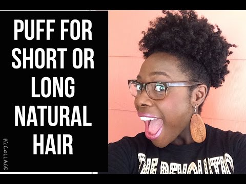Puff  for Short or Long Natural Hair | - Jenell Stewart