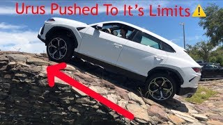 Lamborghini Urus pushed to it's limits! Steep hill climb