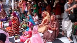 Vyasapuja 2015 HG Sankarshan Das Adhikari ISKCON Vrindavan, India 2015.11.06.