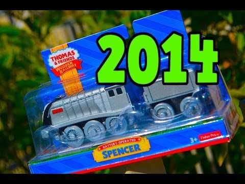 Battery Powered SPENCER Thomas Wooden Railway Toy Train Review 2014 Fisher Price Mattel