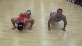 Partner Pushup Ladder to Finish Off a Workout - Kyle Hunt and Kevin Lisak
