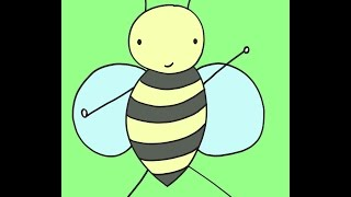 How To Draw A Bee Dancing Drawing Tutorial For Kids