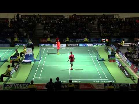 [HD] Australian Badminton Open 2013 - Tian Houwei vs Lee Chong Wei
