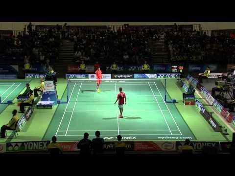[HD] Australian Badminton Open 2013 - Tian Houwei vs Lee Chong Wei