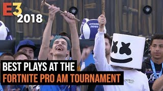 The Best Plays From Fortnite Pro AM Tournament At E3 2018