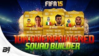 10K OVERPOWERED HYBRID w/ RODRIGO | FIFA 15 Ultimate Team Squad Builder