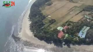 Sea travel by Helicopter on the Cox's bazar  beach | Hotel Ocean Paradise helipad|