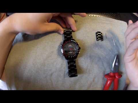 как укоротить браслет на часах ??
