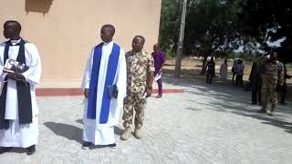 Nigerian Army commits colleagues to God.
