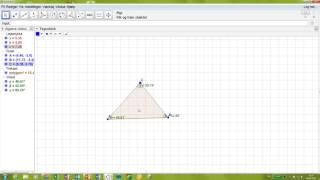 konstruer en trekant