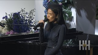Jhené Aiko Performs At Nipsey Hussle's Memorial Service