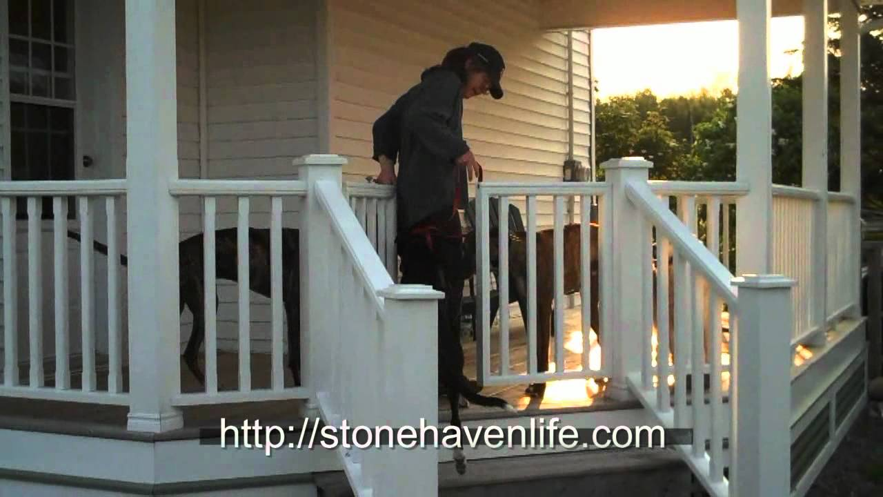 How to make a porch gate diy no sag deck gates for pets for Garden decking jewsons