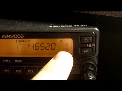 Kenwood TM-V71 - How to program a call channel