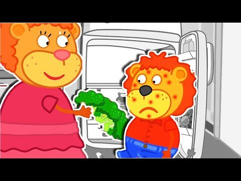 Lion Family Healthy Food is Better Cartoon for Kids