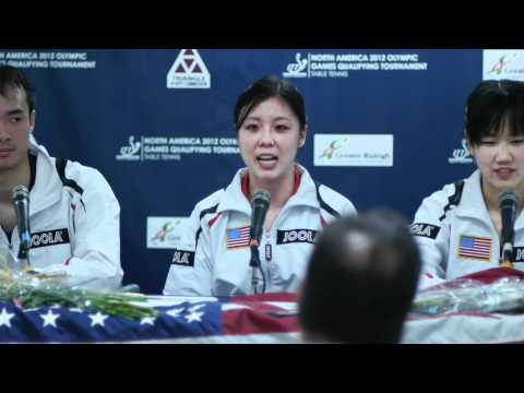 2012 North American Olympic Table Tennis Trials Press Conference