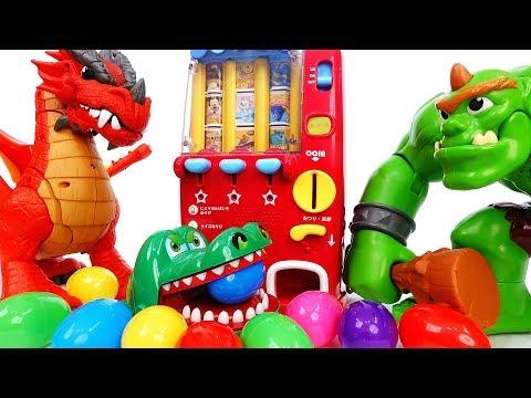 Giant Ogre Broke The Vending Machine~! Monsters & Surprise Eggs - ToyMart TV