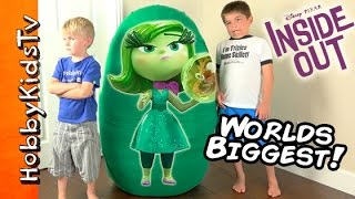 Whats in this GIANT DISGUST Inside Out Surprise Egg?