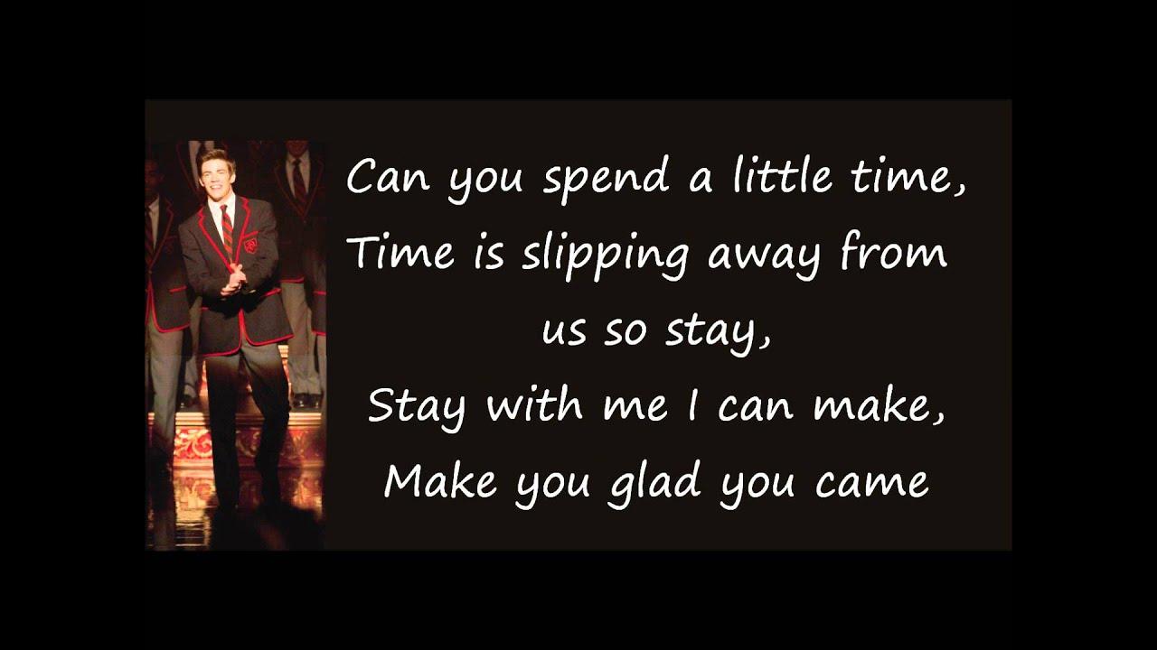 Glee - Fly / I Believe I Can Fly (LYRICS) (Full Official ...