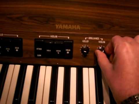 Yamaha SS30 string synthesizer Ultravox Reap the Wild Wind demo