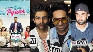Bollywood Celebs REVIEW On Ajay Devgn's De De Pyaar De- Ranbir Kapoor, Kartik Aaryan, Ayushmaan