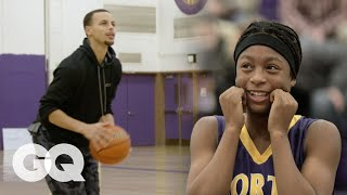 Steph Curry Plays HORSE with Unsuspecting High Schoolers | GQ