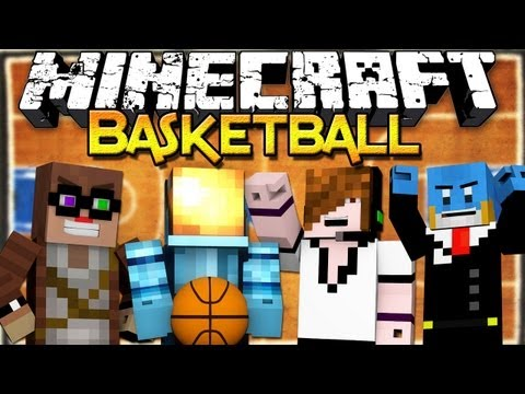 Minecraft: Basketball Mini-game w/ ChimneySwift, Deadlox, and HuskyMudkipz!