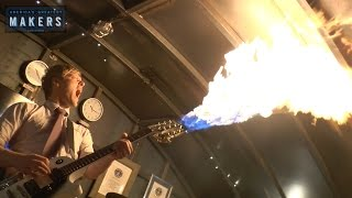 Flamethrowing Guitar & Smokin Bass