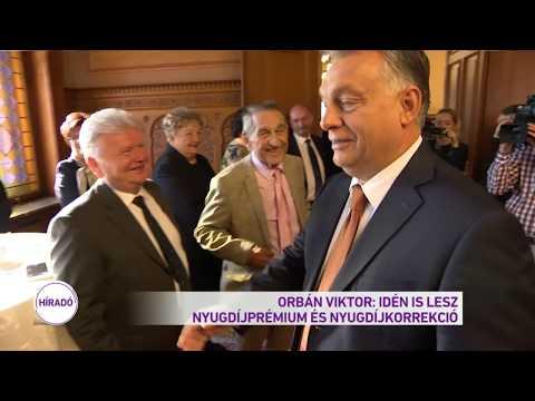 Orbán Viktor: idén is lesz nyugdíjprémium és nyugdíjkorrekció