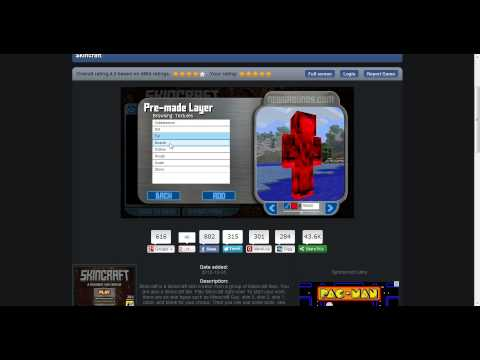 how to make your own minecraft skin using skincraft