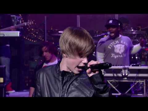 Justin Bieber Sings Baby (david Letterman Live) video