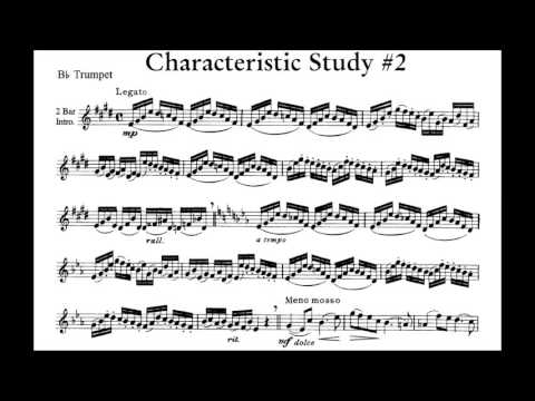 ♫♬ Arban - Characteristic Study #2 [Piano Accompaniment + Scores] Play Along