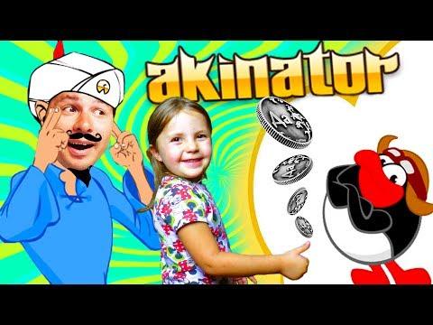 Злой АКИНАТОР ПРОТИВ Монетки ДА или НЕТ смешное видео для детей KIDS CHILDREN