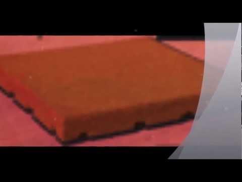 Piastrelle di gomma antitrauma a norma UNI-EN 1177