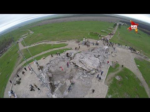 Саур-Могила с высоты птичьего полета