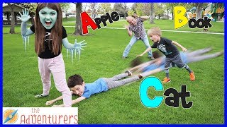 ABC Alphabet Freeze Tag Outdoor Activities And Games For Kids! Playground Wars / That YouTub3 Family