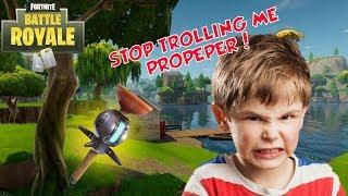 ANGRY KID THINKS I'M PROPEPPER (Fortnite Trolling)