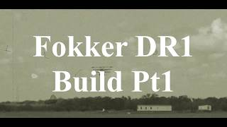 DW Hobby Fokker DR1 build Pt1 RC Model Geeks