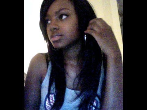 Full Sew in with Side Swept Bangs