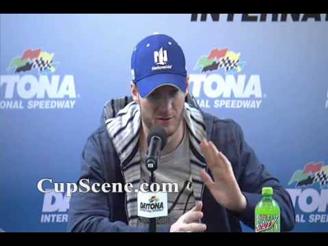NASCAR at Daytona International Speedway Feb.,2015: Dale Earnhardt Jr. pre-race