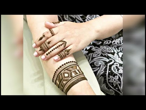 Unique mehndi designs for hands 2018/ Latest designer henna designs / latest finger mehndi designs