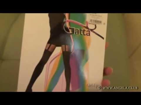 Черные колготки с имитацией чулок Gatta Girl Up 01 купить в интернет магазине. Доставка по России.