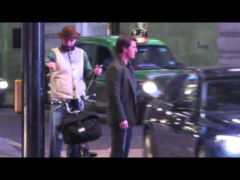 EXCLUSIVE - Tom Cruise Has A Near Miss With A London Bus