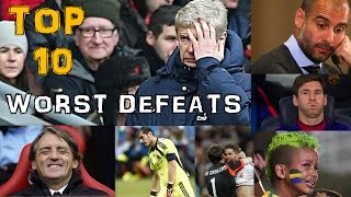 Worst defeats in football history (recent) |Top 10|