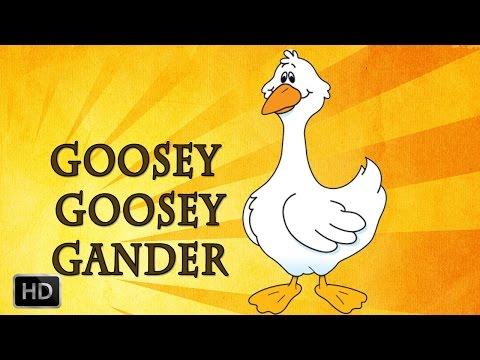 Goosey Goosey Gander - Nursery Rhymes with Lyrics - Cartoon Animated Rhymes for KIds