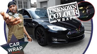 FIRST EVER! JME's Tesla Model S wrapped in Some Cheap Online Vinyl