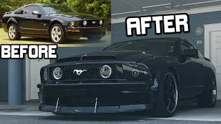 Before and After Transformation of my 2007 GT Mustang (Completely Stock to Modded)